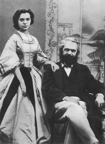 Karl Marx com sua esposa