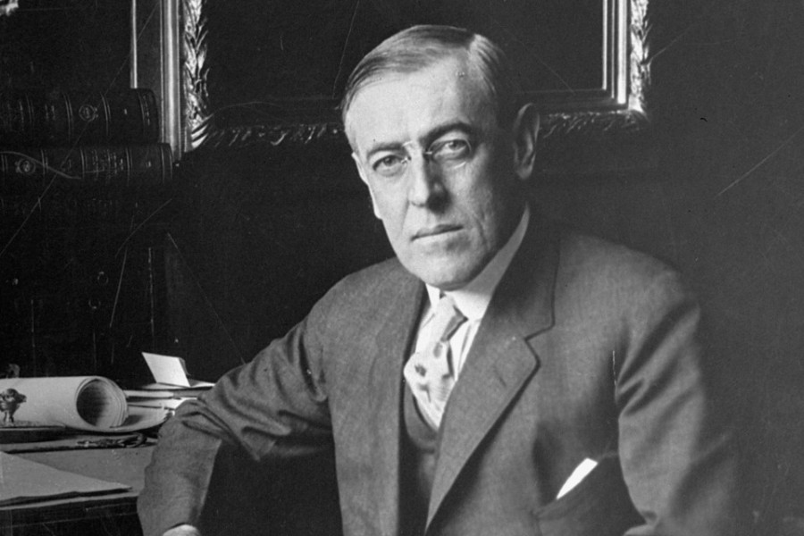 Woodrow Wilson, the 28th U.S. President, poses for a portrait in this undated photo. (AP Photo)