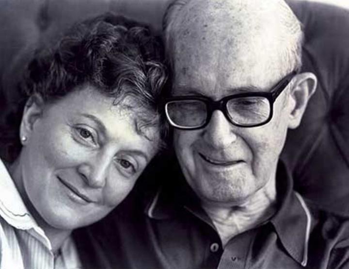 Carlos Drummond de Andrade e a filha, Maria Julieta