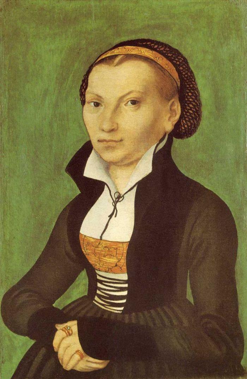Catarina von Bora, esposa de Lutero (retrato feito por Lucas Cranach o Velho - 1526).