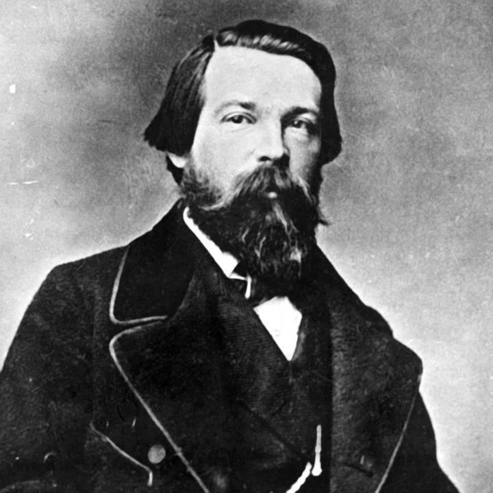 Friedrich Engels, em 1860.